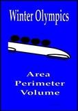 Winter Olympics math activities Area, Perimeter and Volume Sochi 2014