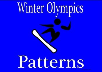 Winter Olympics math activities patterns 1st 2nd Sochi 2014