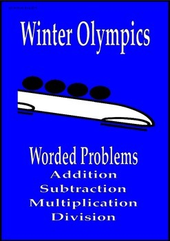 Winter Olympics math activities worded problems Sochi 2014