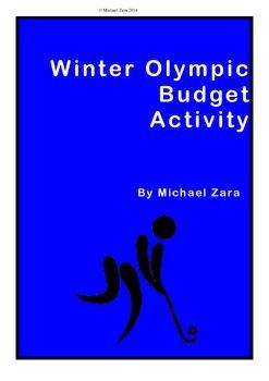 Winter Olympics math budgeting activity Sochi 2014