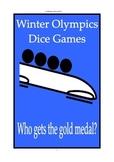 Winter Olympics math dice games 5th 6th 7th grade Sochi 2014