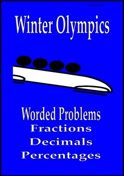 Winter Olympics math worded problems fractions decimals percent Sochi 2014