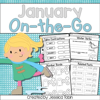 Winter Math and ELA Printables by Jessica Tobin - Elementary Nest