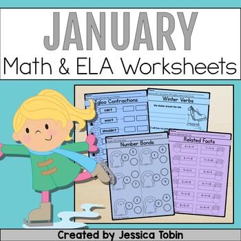 Winter Math and ELA Printables