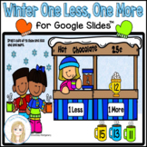 Winter One More One Less Digital Activity and Worksheets f