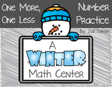 Winter One More, One Less Math Center