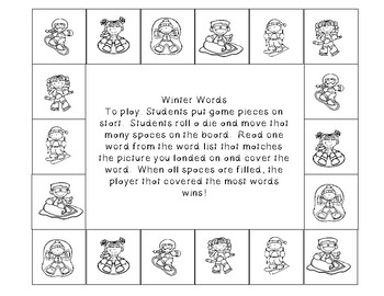 Winter One Page Games