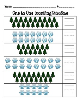 Winter One to One Counting Pack