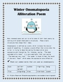 Winter Onomatopoeia Alliteration Poem: Seasonal Poetry