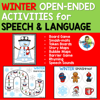 Winter Open Ended Activities for Speech and Language Therapy