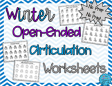 No Prep, Open Ended Articulation Worksheets for Winter
