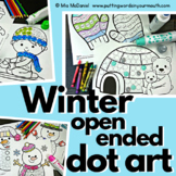 Winter Open Ended Dot Art