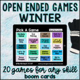 Winter Open Ended Games for ANY skill | Boom Cards™