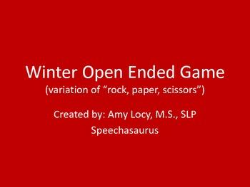 Winter Open Ended Reinforcer Game