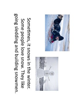 Winter Informational Text and Opinion Paragraph Outline