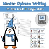 Winter Opinion Writing Task Cards