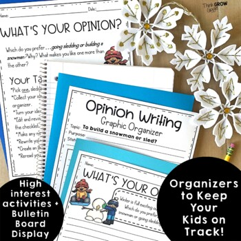 Opinion Writing Prompts Winter