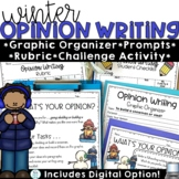 Opinion Writing Prompts Winter with Digital