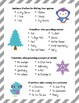 Winter Opinion Writing Packet with Writing Prompt Cards an
