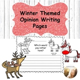 Winter Opinion Writing Pages