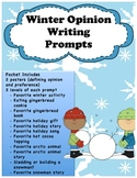 Winter Opinion Writing Prompts for Kindergarten