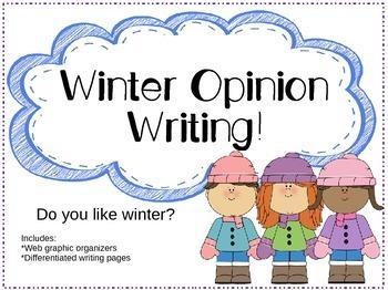 Winter Opinion Writing -FLASH FREEBIE