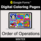 Winter: Order of Operations - Google Forms | Digital Coloring Pages