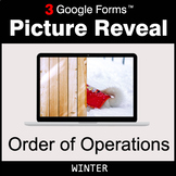 Winter: Order of Operations - Google Forms Math Game | Distance Learning