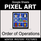 Winter - Order of Operations - Google Sheets Pixel Art