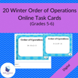 Winter Order of Operations Task Cards (Google Form)