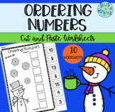 Winter Ordering Numbers | Cut and Paste Worksheets