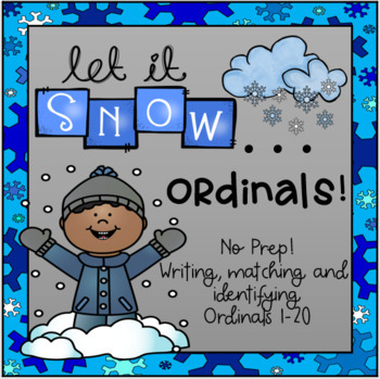 Winter Ordinal Math Packet