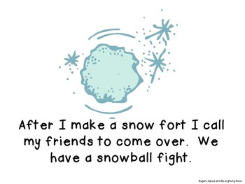 Winter Out My Window/Snowflake Writing Activity and Emergent Reader Bundle