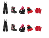 Winter Outdoor Clothing Visual Sequence