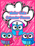 Winter Owl Calendar Pieces