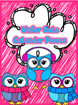Winter Owl Calendar Pieces