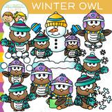 Winter Owl Clip Art