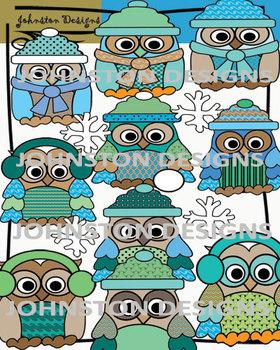 Winter Owl Clipart
