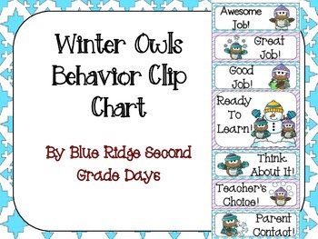 Winter Owls Behavior Clip Chart