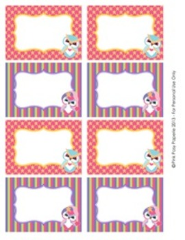 Winter Owls Classroom Decor Bin Tag Labels