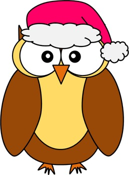 Winter Owls Clip Art Set - 14 images for personal or commercial use