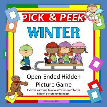 Winter PICK & PEEK! Speech Therapy Game