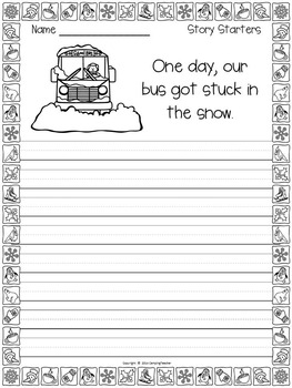 Winter Pack No Prep Literacy and Math Printables