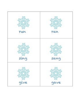 Winter Sentence Unscramble, Irregular Plurals, and Irregular Past Tense