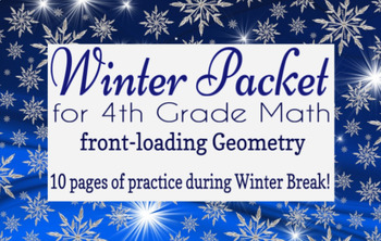 Winter Packet / Christmas Break Packet - 4th Grade Math Geometry Preview