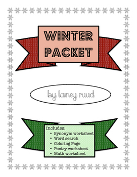 Winter Packet: Fast Finishers/Fun Pages