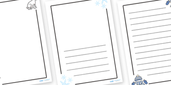 Winter Page Borders