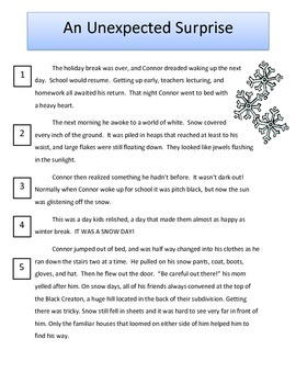 Winter Reading Paired Passages: Fiction and Nonfiction Text