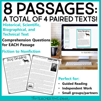 Winter Paired Texts: Fiction to Nonfiction 4th - 6th Grades