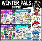 Winter Pals Clip Art Bundle {Educlips Clipart}